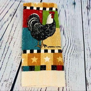 Warren Kimble Roosters kitchen towel new